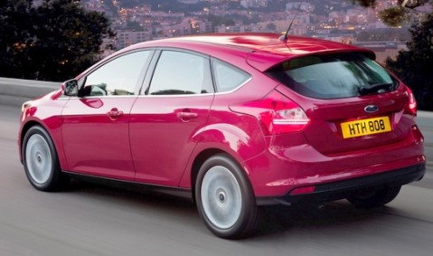 pink ford focus